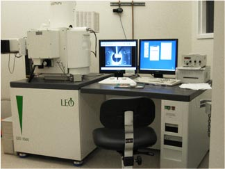 Scanning Electron Microscope (SEM) facility in the CXRO nanofabrication laboratory